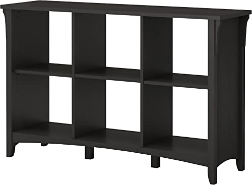 Bush Furniture Salinas 6 Cube Organizer in Vintage Black