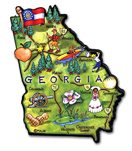 Amazon.com: ARTWOOD MAGNET - GEORGIA STATE MAP: Kitchen & Dining