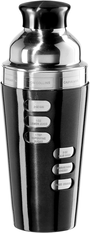 Oggi 7387.3 23-Ounce Stainless Steel Cocktail Shaker, Black