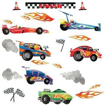 RoomMates Repositionable Childrens Wall Stickers   Racing Cars Part 60