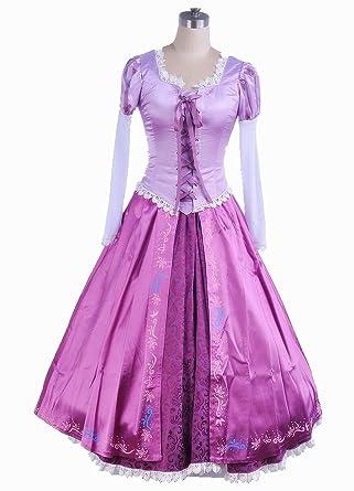 ラプンツェル コスプレ ドレス 衣装 大人用 コスチューム レディース サイズ:S