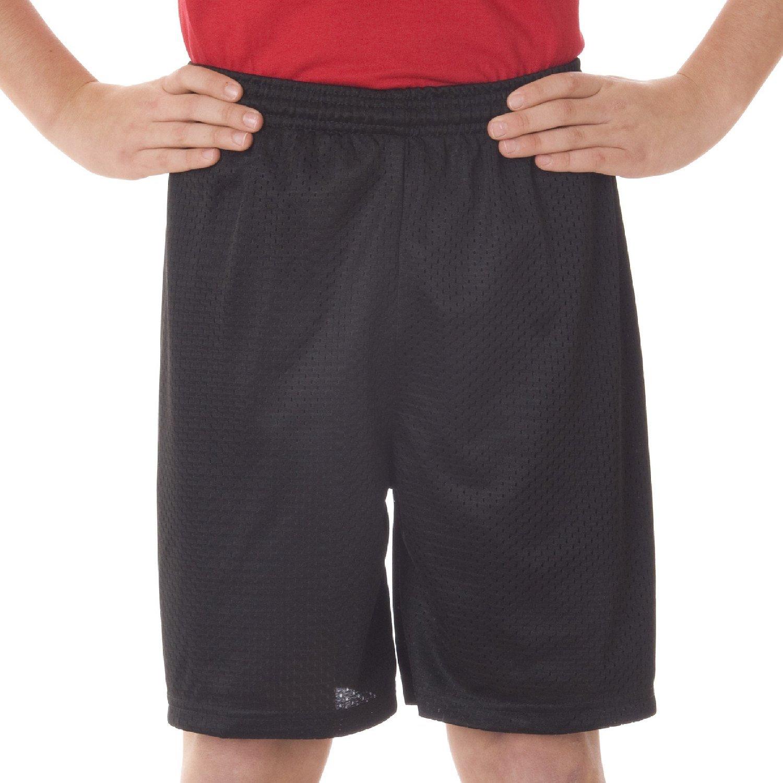 2207 Badger Youth Mesh//Tricot 6 Shorts X-Small Black
