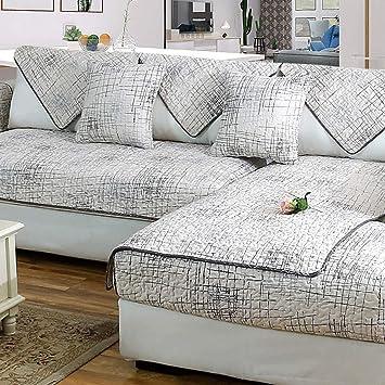 Amazon Com Zxnm Pure Cotton Sofa Cushion Simple Non Slip Cotton