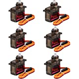 Seamuing 6Pcs MG90S Micro Servo 9G Servo Motor Metal Geared Micro Servo Motor 9G Smart Robot Car Helicopter Plane Boat
