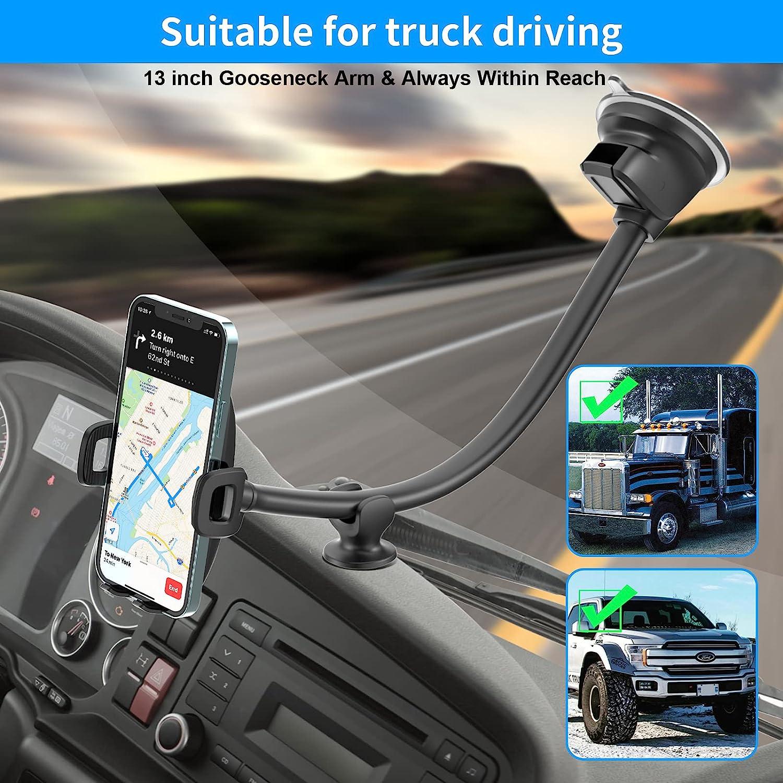 gooseneck helps phone to mount on semi trucks