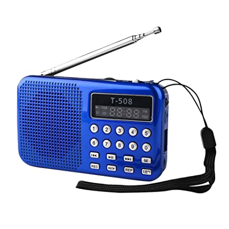 Amazon.com: hongfei portátil Mini radio FM, transparente ...