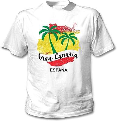 teesquare1st Gran Canaria Canary Islands Camiseta Blanca para ...