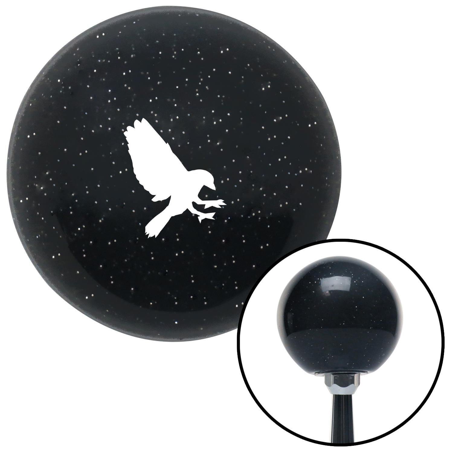 American Shifter 278455 Shift Knob White Crow Black Metal Flake with M16 x 1.5 Insert