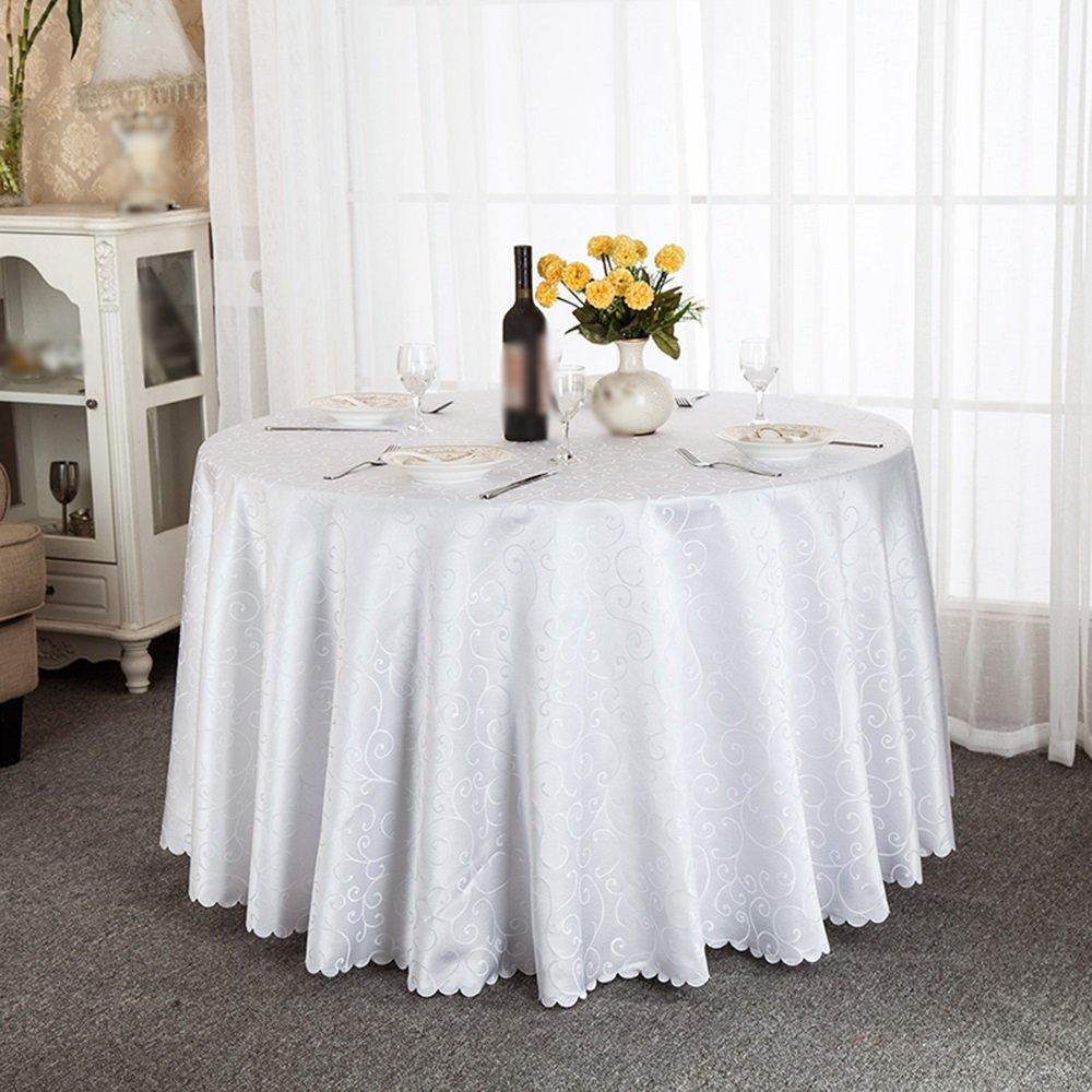 Weiß 200cm Tablecloth Moderne minimalistische Couchtischtischdecke europäische Restauranthotel-Kreisgewebetischdecke (Farbe   Weiß, größe   200cm)