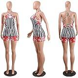 FJ-Direct Floral Print Shorts Women Boho Criss Cross Back Backless Sexy Summer Playsuit Romper