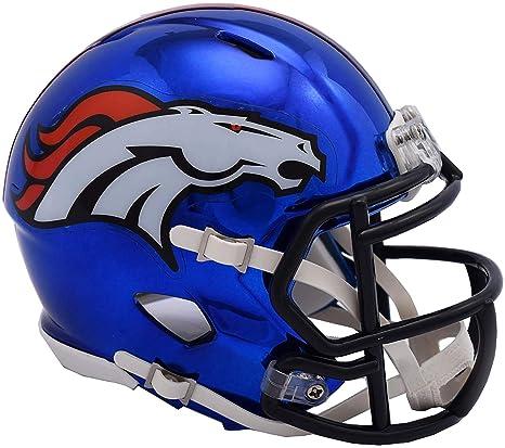 8916caf4227 Amazon.com : Sports Memorabilia Riddell Denver Broncos Chrome Alternate  Speed Mini Football Helmet - NFL Mini Helmets : Sports & Outdoors