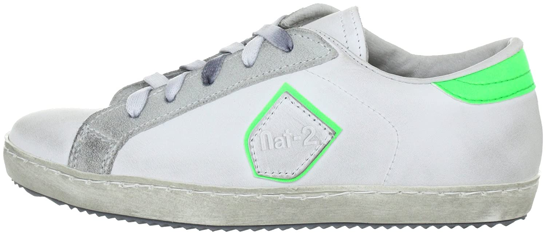 Nat-2 Sash, Zapatillas Fashion de Cuero Mujer, Blanco (white green), 39 EU