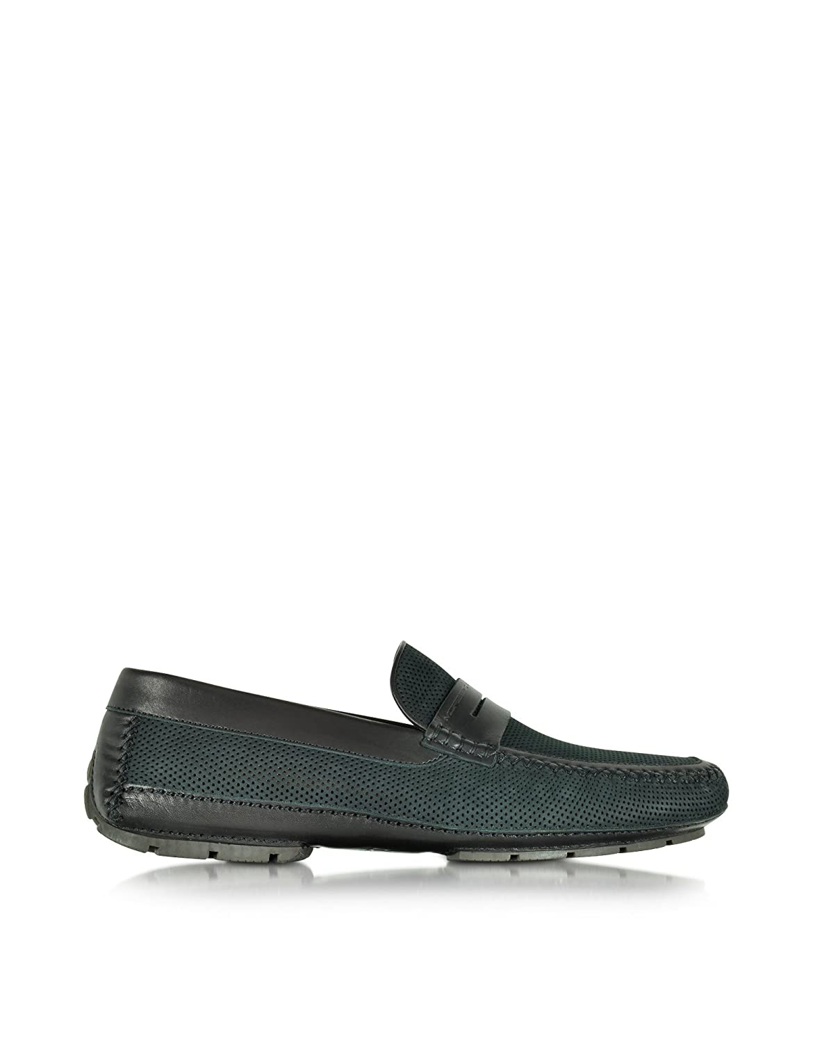 MORESCHI MEN'S 41599SHBAHAMASBLACK BLACK LEATHER LOAFERS