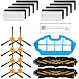 Mochenli Replacement Parts Accessories for DEEBOT N79 N79s DN622 500 N79w N79se Robotic Vacuum Cleaner,8 Side Brushes,8 Filte