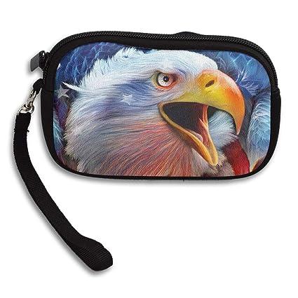 Double Y Monedero con diseño de águila y Bandera ...