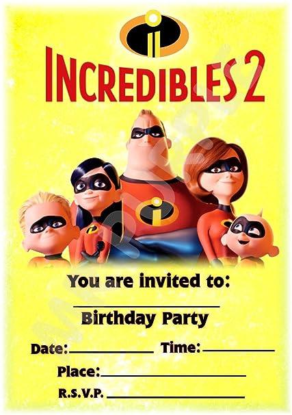Disney The Incredibles 2 invitaciones de fiesta de ...