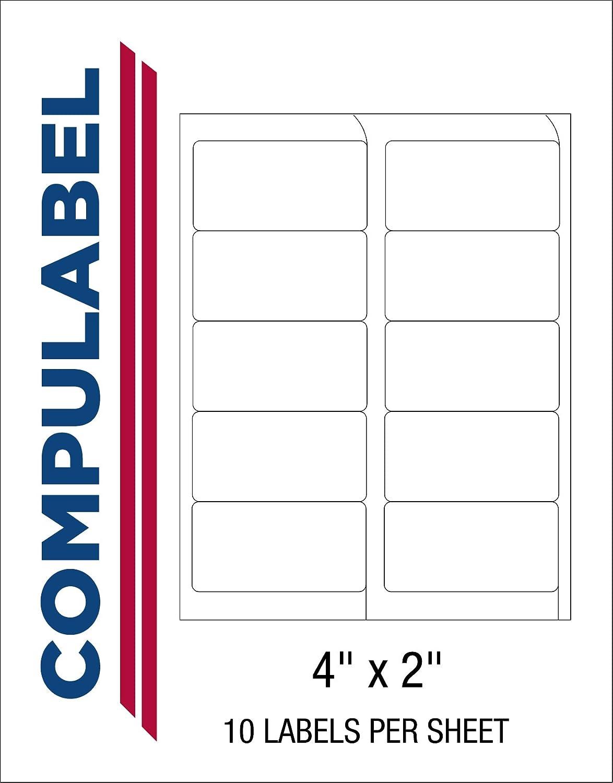 compulabel blanco etiquetas de envío para impresoras láser y de ...
