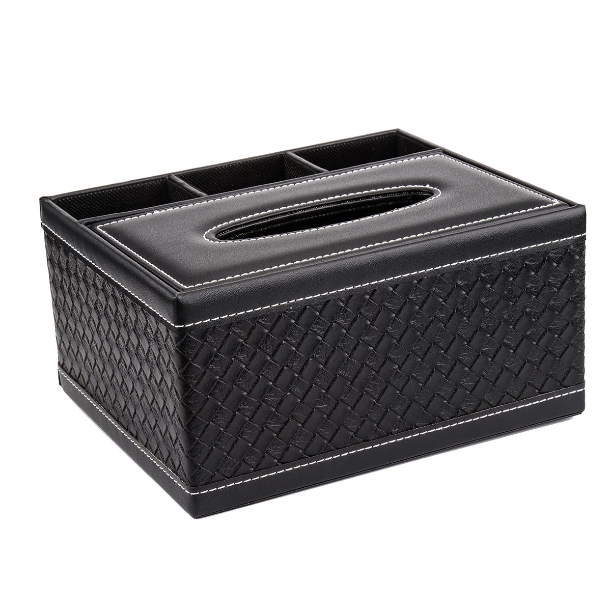Leather Tissue Holder, Tissue Cover Holder Large Tissue Box Cover, Car office Organizer for Home Office Car Automotive Decoration, 8.6x6.6x3.9inch Weiye