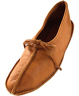 Bastien Industries Womens Buffalo Hide Leather Ballet Earthing Moccasins