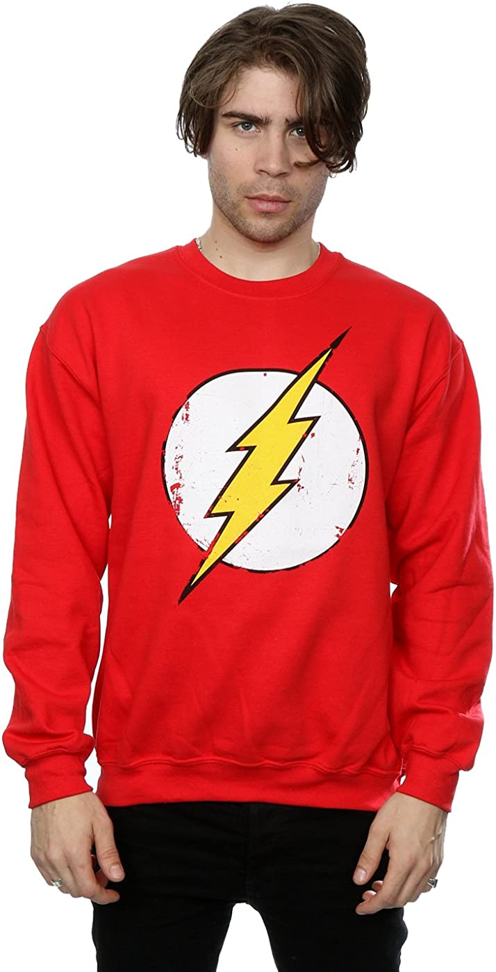 TALLA 3XL. DC Comics hombre Flash Distressed Logo Camisa de entrenamiento