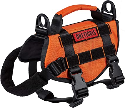 Onetigris Small Dog Vest Beast Mojo Tactical Dog Harness With Durable Vertical H