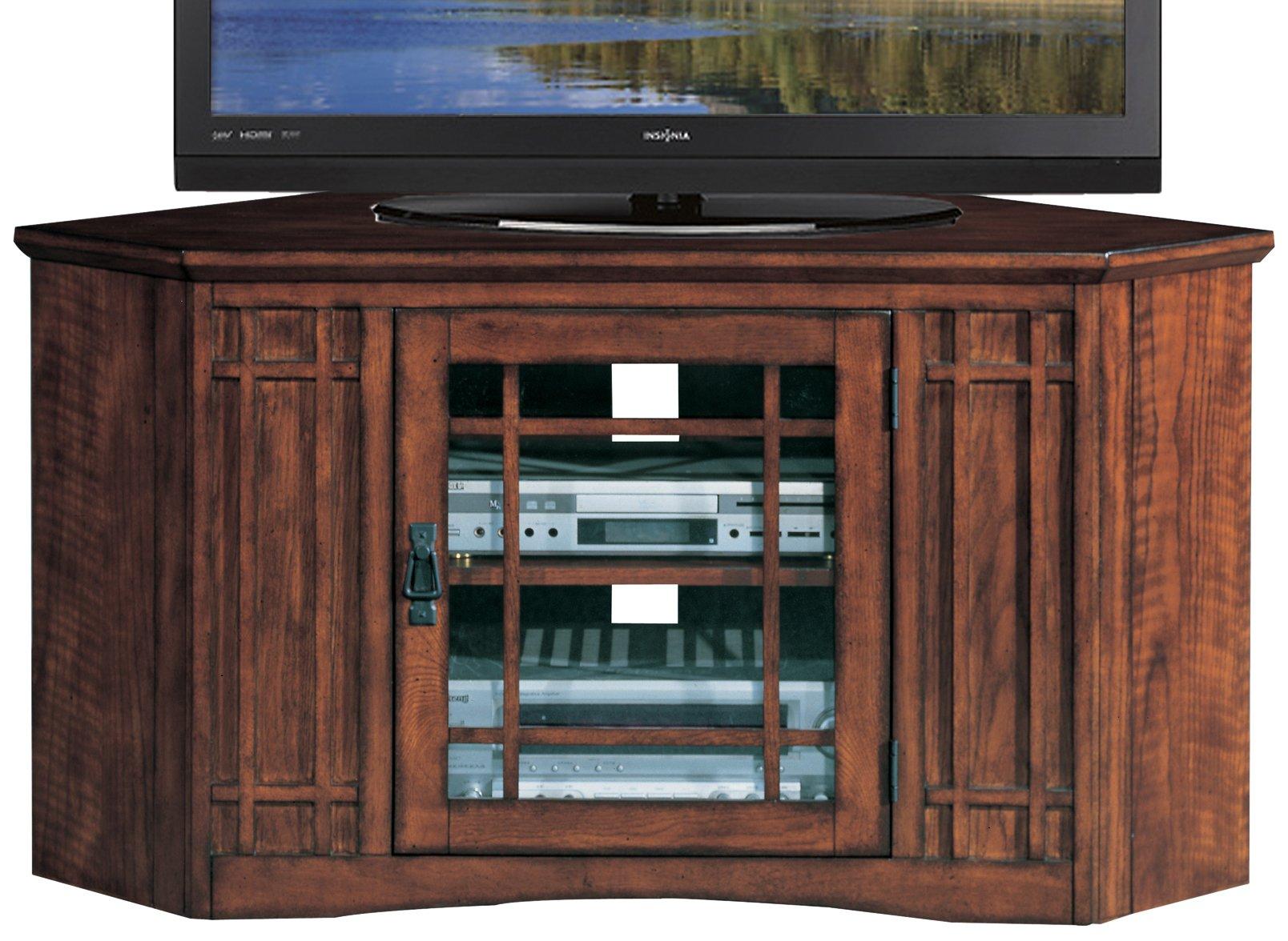 Leick Mission 46'' Corner TV Stand - Mission Oak