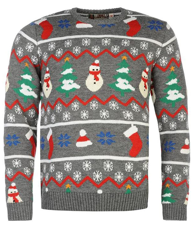 Mens Fine Knitted Festive Christmas Jumper Top