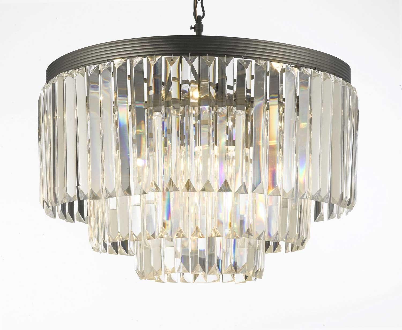 Odeon crystal glass fringe 3 tier chandelier chandeliers lighting odeon crystal glass fringe 3 tier chandelier chandeliers lighting amazon arubaitofo Gallery