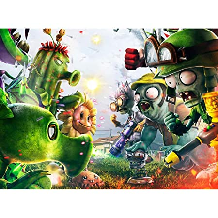 AMY-ZW Plants Vs Zombies Juegos Cartel Rompecabezas Animado ...