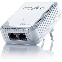 devolo dLAN 500 duo Powerline (500 Mbit/s Internet über die Steckdose, 2x LAN Ports, 1x Powerlan Adapter, PLC Netzwerkadapter) weiß