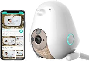 Cubo AI Baby Monitor: Sleep Safety with Covered Face & Danger Zone Alerts, HD 1080p Night Vision Camera, 2-Way Audio...