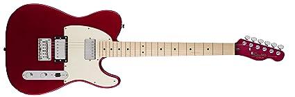 Squier por Fender Telecaster guitarra eléctrica – contemporáneo hh – arce diapasón, color rojo metálico