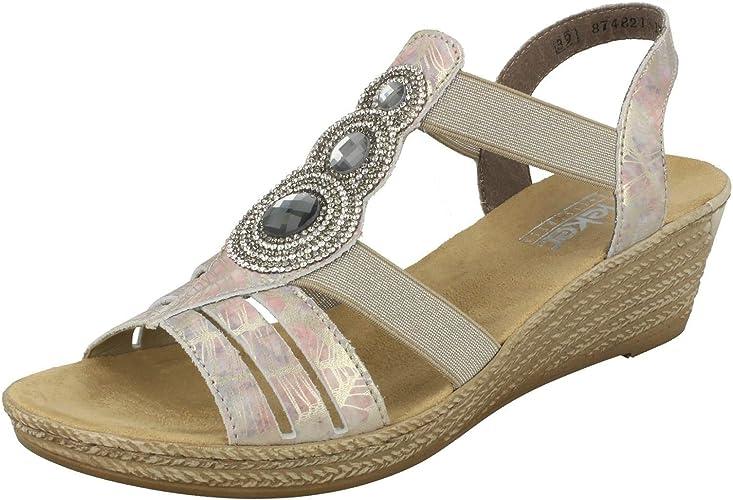 Rieker Women's, 62459 Mid Heel Wedge Sandal