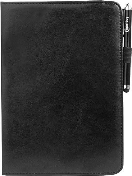 8,4 Zoll Lila 360 Grad Drehen Stand Folio Brieftasche Fall Abdeckung und Stylus Pen Kompatibel mit Ausgew/ählten Unten Aufgef/ührten Ger/äten emartbuy Universal 7 Zoll