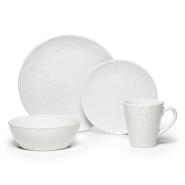 Amazon.com | Pfaltzgraff Landen 16 Piece Textured Stoneware Dinnerware Set White Dinnerware Sets  sc 1 st  Amazon.com & Amazon.com | Pfaltzgraff Landen 16 Piece Textured Stoneware ...