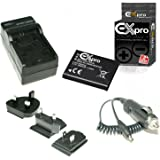 Ex-Pro Battery and Digital Camera Travel Charger for Panasonic Lumix