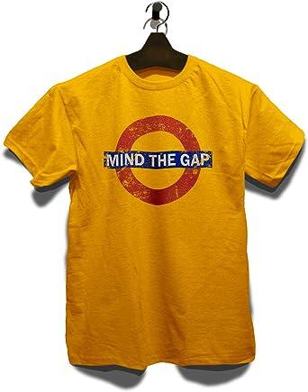 shirtminister Mind The Gap Vintage Camiseta Tamaños: Amazon.es ...
