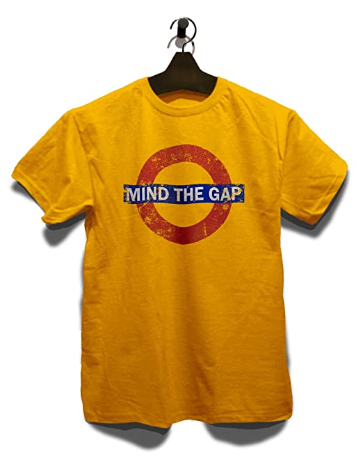 shirtminister Mind The Gap Vintage T-Shirt Gelb-Yellow S