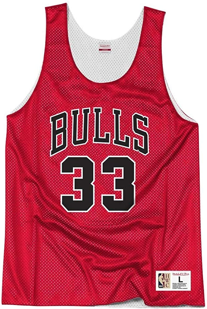 unisex Camiseta de baloncesto para hombre chaleco deportivo dise/ño retro de Chicago Bulls tejido transpirable fresco sin mangas NBNB Scottie Pippen 33 #