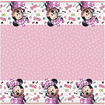 Minnie Mouse Bow-Tique Plastic Tablecover 1ct