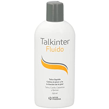 Talkinter 179796.4 - Talco líquido bebés para rojeces, irritaciones o eccemas, sin parabenos, 250 ml: Amazon.es: Salud y cuidado personal