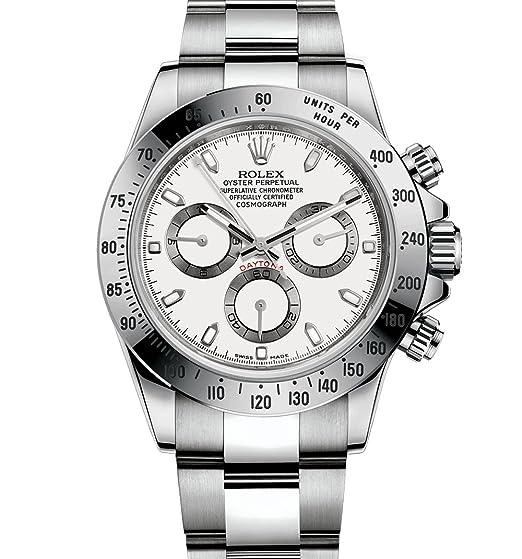 Rolex cosmograph Daytona Acero Inoxidable Reloj 116520 - Esfera blanca: Rolex: Amazon.es: Relojes