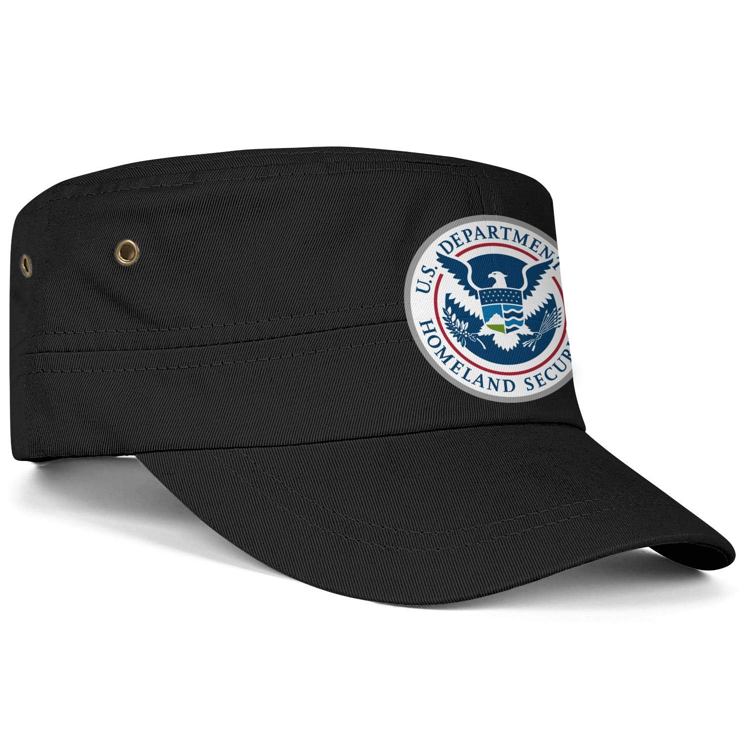 ZJING United States Department of Homeland Security Army Caps Flat Top Cadet Corps Hat Casual Trapper Hat