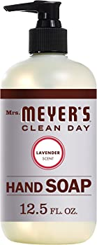 Mrs. Meyers Clean Day Liquid Hand Soap, 12.5 oz (Lavender or Basil)