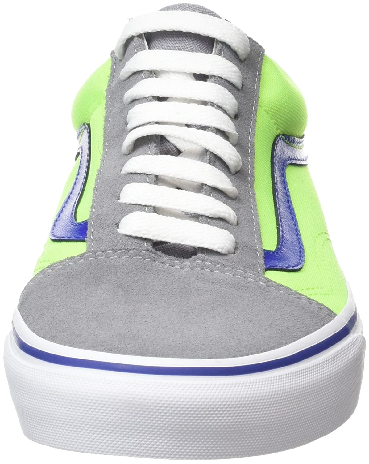 Amazon.com | Vans Old Skool (Brite) Frost Gray/Neon G - Mens 11m, womens  12.5m - VN0004OJJSV | Skateboarding