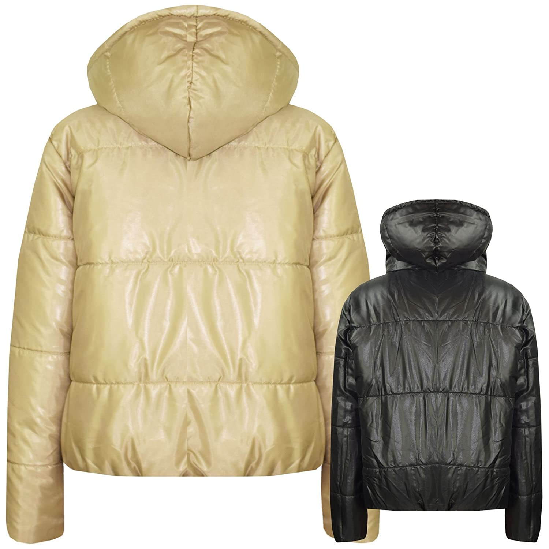 A2Z 4 Kids/® Girls Jackets Kids Stone Reversible Cropped Hooded Padded Puffer Jacket Coat5-13