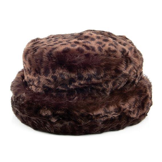 18186f91979 Scala Hats Faux Fur Bucket Hat - Dark Leopard 1-Size  Amazon.co.uk ...