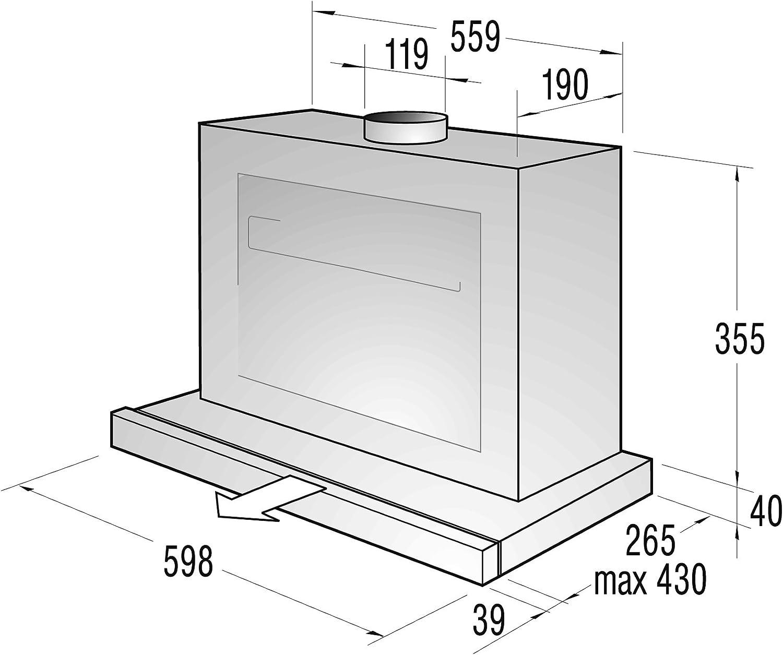 Gorenje DF622X - Campana extractora (59,8 cm, 4 niveles de intensidad, extensible): Amazon.es: Hogar
