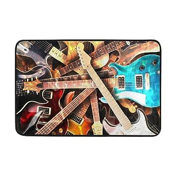 yting Fondo de Guitarras eléctricas Felpudo Antideslizante ...