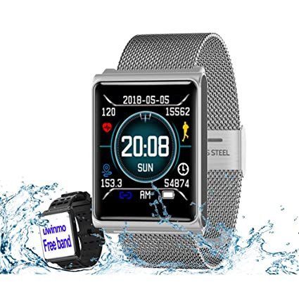 Amazoncom Smart Watch Fitness Tracker Heart Rate Blood Pressure
